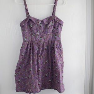 City Triangles Sz 9 Empire Waist Mini Dress Lilac
